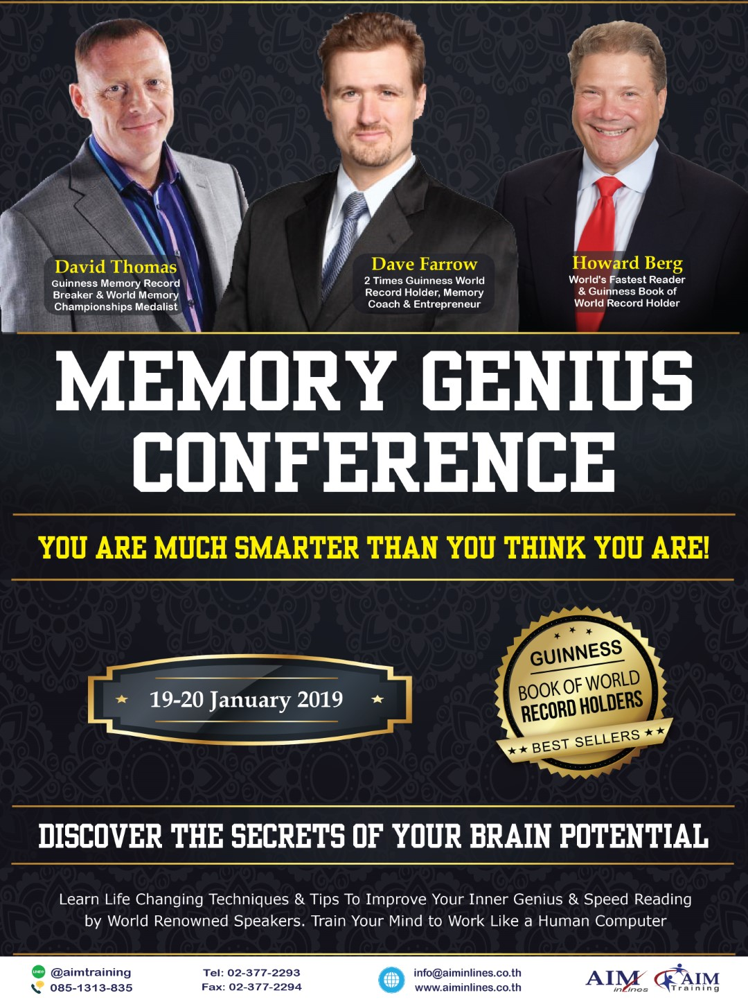 MGC - Memory Genius Conference Thailand 2019 by AIM inlines & AIM Training Co., Ltd.